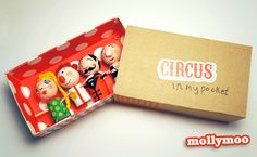 Circus In My Pocket craft and handmade toy created for current 'Circus' issue of Anorak Magazine - all you need are some winecorks, styrofoam balls, tissue and paint for the troop. and cardboard for the giant matchbox. Matchbox Crafts, Matchbox Art, New Crafts, Summer Crafts, Cork Crafts, Paper Plate Crafts, Craft Stick Crafts, Peg Doll, Craft Tutorials