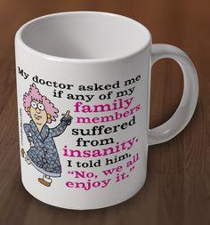 Aunty Acid Insanity Mug from Charlie Bit Me. Buy Aunty Acid Insanity Mug Online now for £8.00 : CharlieBitMe.co.uk