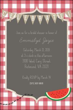 Picnic-themed Bridal Shower Invite