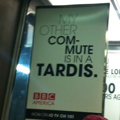 Awesome @bbcamerica ad for dr who on metro north