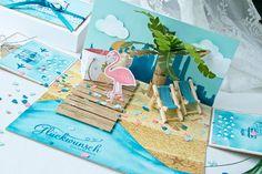 Vor einiger Zeit hatte ich mal eine Explosionsbox für eine Hochzeitsreiseam Strand gewerkelt. Das gefiel einer Kundin so gut, dass sie eine Box bei mir bestellt hat:) Dieses mal kam aber noch die…