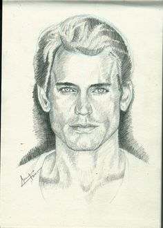 Portrait study of Matt Bomer