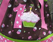 FREE  U.S. Shipping Pink cupcake pillowcase dress with any number