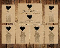 Wedding Seating Chart Editable Text Rustic Kraft By BSNPartyArt  Free Seating Chart Template For Wedding Reception