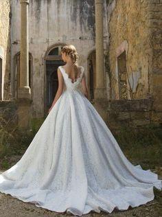 Featured Dress: Chrystelle Atallah; Wedding dress idea.