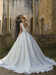 Featured Dress: Chrystelle Atallah; Wedding dress idea.