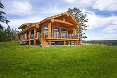 Log Post & Beam Home - Pioneer Log Homes of BC #loghome #customloghome #luxuryloghome