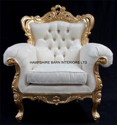 A Shaadi Sofa and Two armchairs in Gold and Cream / Ivory   Hampshire Barn Interiors