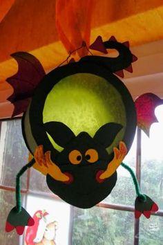 """Superstar Lanterns for Boys"" by Christiane Steffan and Gudrun Schmitt, ers . Fall Crafts, Diy Crafts For Kids, Holiday Crafts, Arts And Crafts, Dulceros Halloween, Holidays Halloween, Halloween Decorations, Paper Lanterns, Art Plastique"