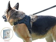 My Pets America Dog Harness for all Breeds - Complete Harness & Leash Set; Reflective Adjustable Harness With Handle. No Choke No Slip. Excellent for Training Walking Hiking. No Pull Effect.