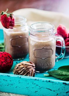 This Green Peanut Butter and Jelly Smoothie is one of the best kid friendly recipes I have right now. Though it mostly tastes like an ooey gooey peanut butter and sweet jelly sandwich so the kids really love it, it is also packed full of Iron and Protein and Vitamins so I really love serving it up f