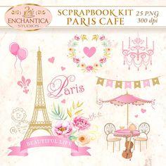 Paris Printable, Paris Png, Paris Scrapbook, Paris Clipart, Paris Watercolor, Eiffel Tower,   Digital Paris, Paris Clip Art, Scrapbook Paris