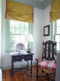love the Roman Shade-Robert Couturier Connecticut home