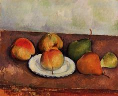 Still Life Plate and Fruit Artist: Paul Cezanne Completion Date: c.1887 Style: Post-Impressionism Period: Mature period Genre: still life Technique: oil Material: canvas Gallery: Private Collection