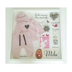 Geboortelijst by Troetel.com . . . . #geboortebord #wandbord #tekstbord #pakje #baby #kraamcadeau #geboortelijst #geboorteborden #roze #mila