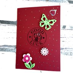 Biglietto d'auguri fatto a mano good Luck Fatto a mano Good Luck card DIY