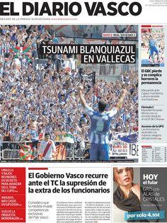 Los Titulares y Portadas de Noticias Destacadas Españolas del 15 de Abril de 2013 del Diario Vasco ¿Que le parecio esta Portada de este Diario Español?