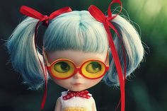 blythe doll with cute glasses