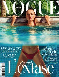 Cover with Natasha Poly June 2014 of FR based magazine Vogue Paris from Condé Nast Publications including details. Vogue Covers, Vogue Magazine Covers, Fashion Magazine Cover, Fashion Cover, Fashion Shoot, Fashion Week, Editorial Fashion, Trendy Fashion, Fashion Tape