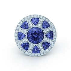 The Great Gatsby Collection ring in platinum with diamonds and tanzanites.