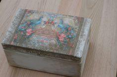 super okazja!pudełko rustykalne skrzynka decoupage