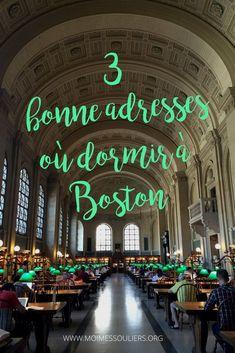 J'ai testé des hébergements à Boston et voici les trois meilleures adresses d'hôtels où dormir. Des endroits confortables, abordables, et idéal pour explorer la ville de Boston été comme hiver. #Boston