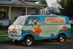 """Mystery Machine!! """"pass Shaggy the baggy so he can roll Scooby a dooby!"""""""