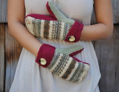 DIY Mitten Tutorial and Pattern Made from by designedbyginalouise