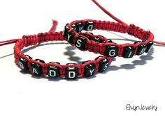 Daddy Daughter Bracelets Father's Day Gift Father by ElwynJewelry