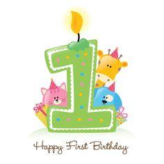 Happy First Birthday Candle Stock Vector - Illustration of first, group: 9945722 First Birthday Candle, 1st Birthday Wishes, Happy Birthday Text, Birthday Congratulations, Happy Birthday Candles, Happy Birthday Quotes, Art Birthday, Birthday Design, Animal Birthday