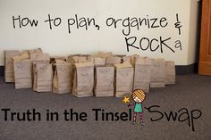 How to plan, organize and ROCK a Truth in the Tinsel SWAP! <--so awesome!!