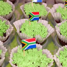 South Africa Day Cupcakes by Cutie Cakes