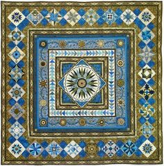 gorgeous quilt with sensational borders! Christine Wickert - 24th Annual AQS Show - Paducah