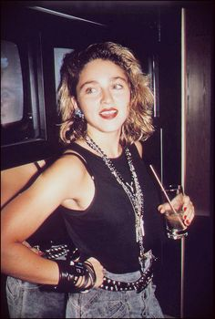 Madonna at Private Eyes nightclub in New York (1984)