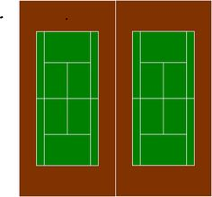 Free Vector Graphic: Courts, Tennis, Two, Green, Grass - Free Image on Pixabay - 307444