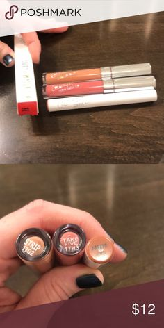 Colourpop lip trio Ultra satin lip - strip, ultra matte lip (take five - have box), Lippie stix - Parker. Colourpop Makeup Lipstick