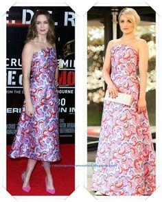 Un vestido de Osman Resort 2015 lo llevo, en versión corta, Emily Blunt en una premiere; después se lo vimos a Dianna Agron en la Gala del Winter Weekend.