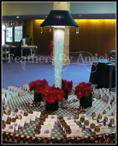 Lighted lampshade centerpiece