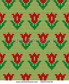 Tapestry Crochet Patterns, Fair Isle Knitting Patterns, Knitting Charts, Cross Stitch Designs, Cross Stitch Patterns, Flower Chart, Cross Stitch Embroidery, Punto Cruz Gratis, Cross Stitch Rose