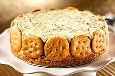 RITZ Spinach-cheese Torte - classy dip to bring to your next pot luck. Recipe can be found on the Kraft foods website.