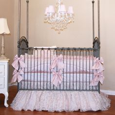 Gorgeous bedding for a little princess.
