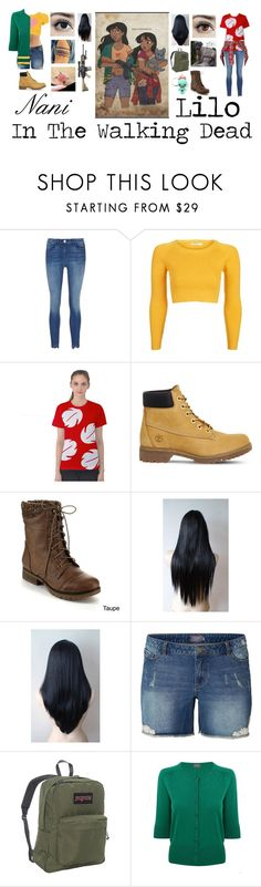 """Nani and Lilo in The Walking Dead"" by foxykitty-1 ❤ liked on Polyvore featuring Topshop, Timberland, Refresh, JunaRose, JanSport, Alexon and R13"