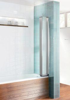 image 3 of simpsons edge foldaway bath screen 830mm efbsc0865
