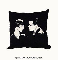 Lulu cushion covers!  - Louise Brooks - Art - 1920s - silver screen -Pandora's Box - Weimar Berlin - Saffron Reichenbacker