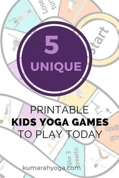 """Beautiful and easy to use kids yoga games you can print and use today! Try them in your class or at home on a rainy day. """"This is an AMAZING product from Maia! The games are SO WELL put together with many options for playing and using them! The illustrations are beautiful! These yoga games are perfectly put together and you will be missing out if you don't have them!"""" -Megan"""
