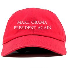 e71ffd88fbd83 2017 new Make Obama President Again Dad Hat Baseball Cap Unstructured New -  Red Retail and