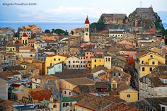 Corfu, Greece Cinque Terre Italy, Corfu Greece, Paris Skyline, Travel, Movies, Windows, Doors, Houses, Films
