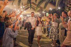 Sparkler wedding exit - Aqua Blue and Brown Country Wedding Lake Mirror Complex Lakeland – Lakeland Wedding Photographer Jeff Mason Photography