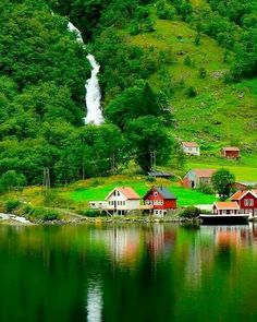 Sognefjord in Norway is the longest fjord in the world and is also home to Nær. Sognefjord in Norway is the longest fjord in the world and is also home to Nærøyfjord which was declared a UNESCO site Beautiful Norway, Beautiful World, Beautiful Nature Wallpaper, Beautiful Landscapes, Beautiful Places To Visit, Wonderful Places, Places To Travel, Places To See, Travel Destinations