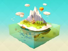 Low Poly Island by Ryogo Toyoda